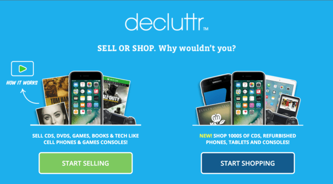 Decluttr makes it easy to sell your stuff
