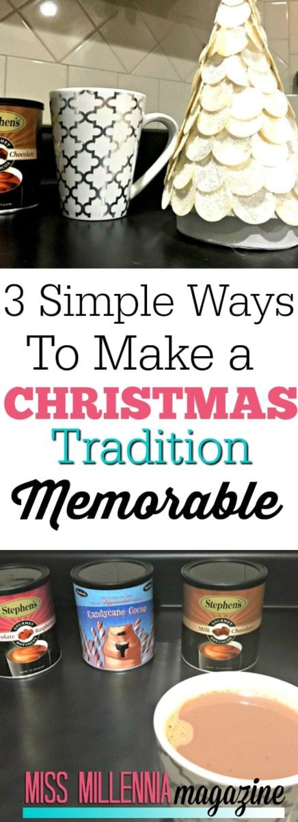 I love traditions because I think they do bring a family closer together when they get used to the ritual of doing them every year.