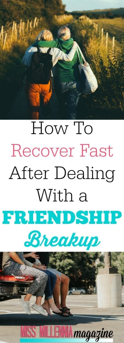 Parting ways with a gal pal can be as devastating as breaking up with a partner. Follow our tips on how to cope with a friendship breakup.