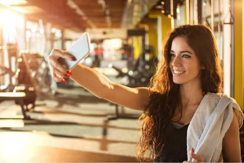 workout selfies
