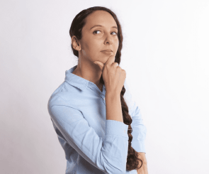 person thinking about how to secure an interview