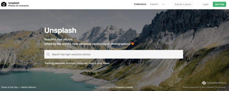 unsplash best tools for bloggers