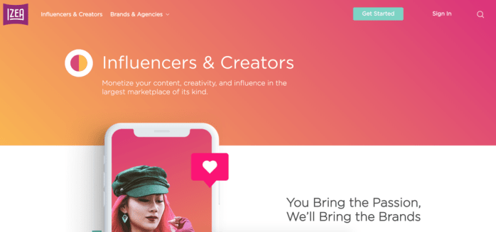 IZEA Influencer Network for Influencers is a great way to make money with sponsored content