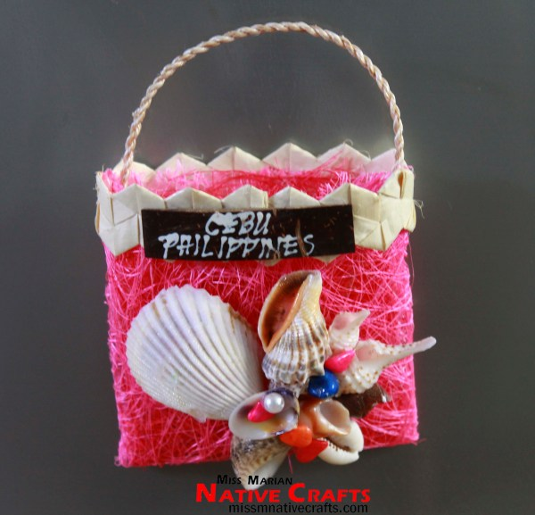 Small Sinamay Bag With Shells Fridge Ref Magnet