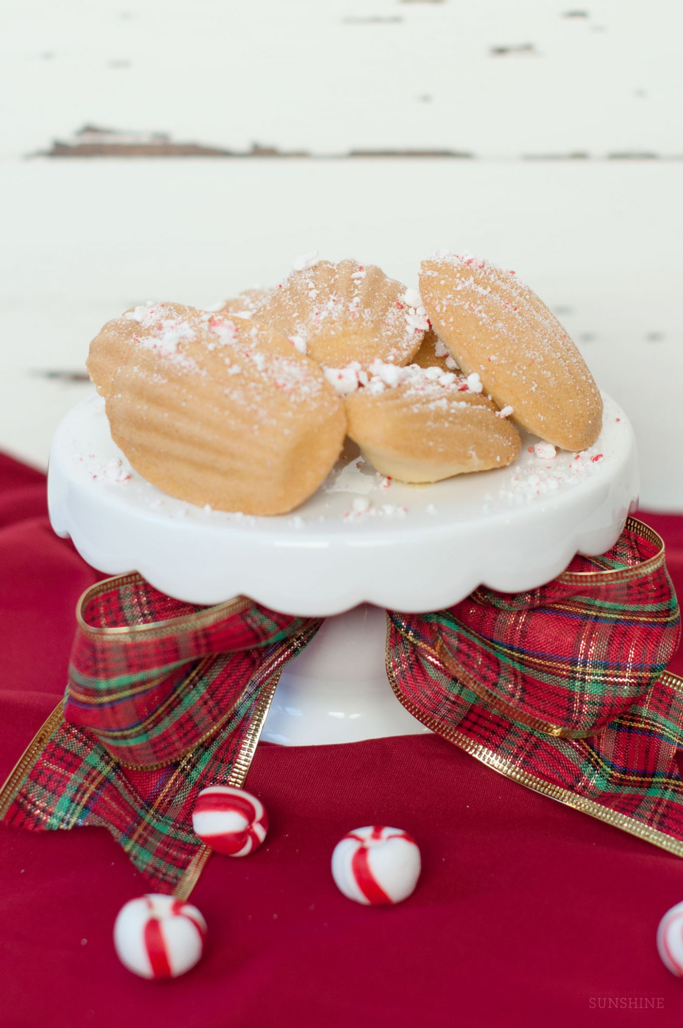 Christmas Cookies Recipe: Peppermint Madeleines featured by top Atlanta foodie blogger, Miss Molly Moon