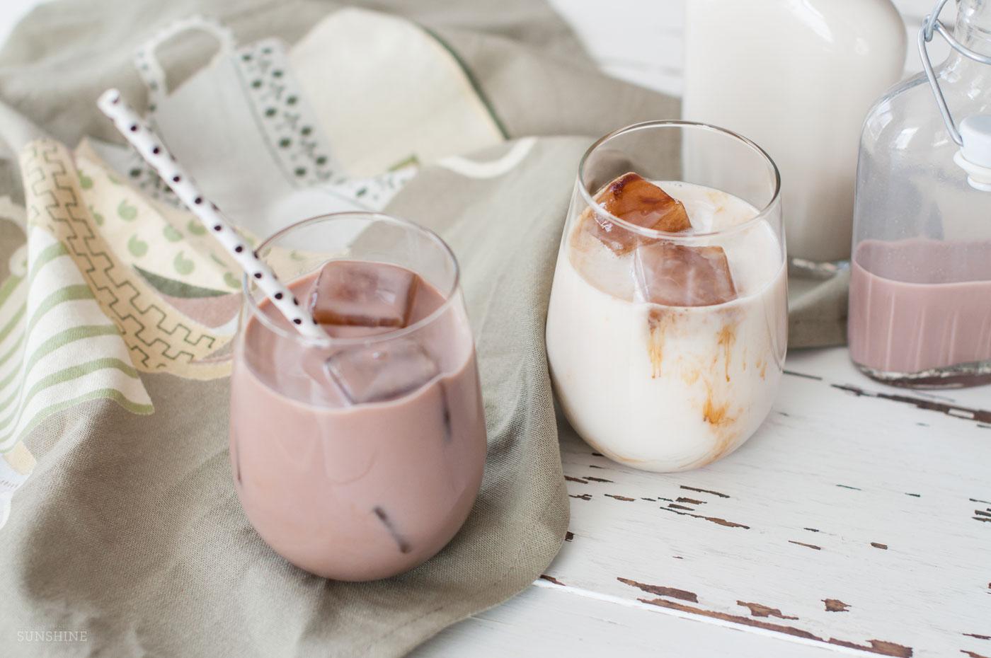 Lighter Iced Lattes