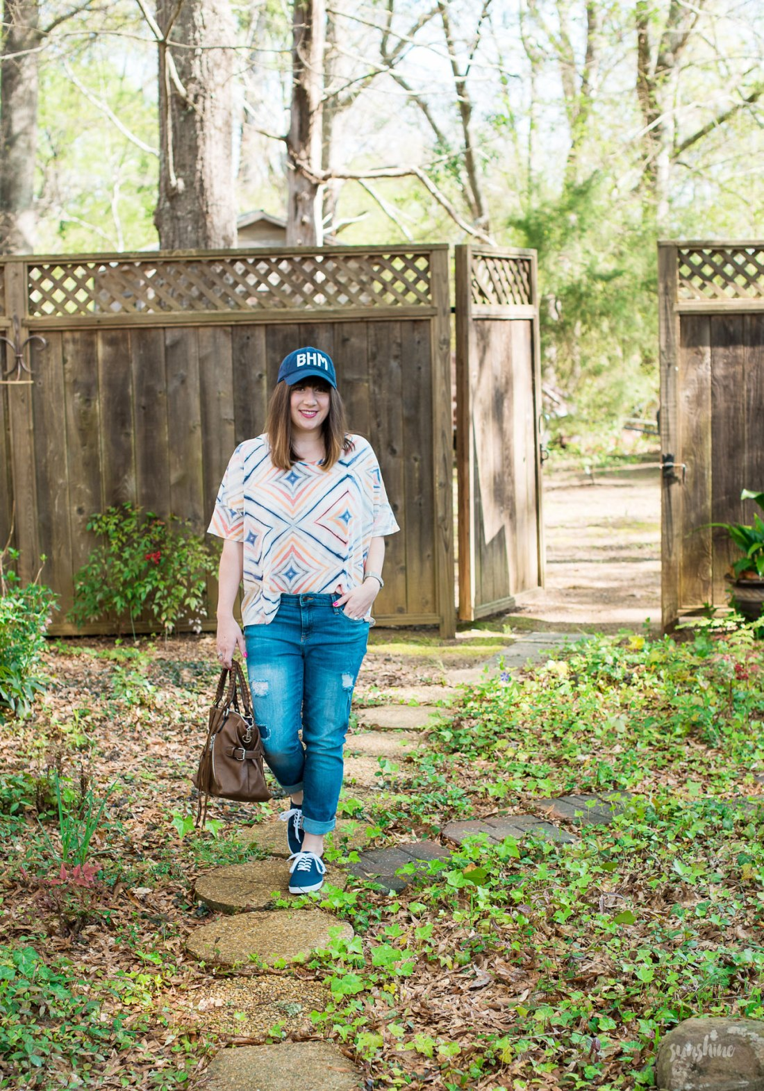Aviate Brand Cap, Old Navy Tee, Gap Denim, Urban Expressions Handbag