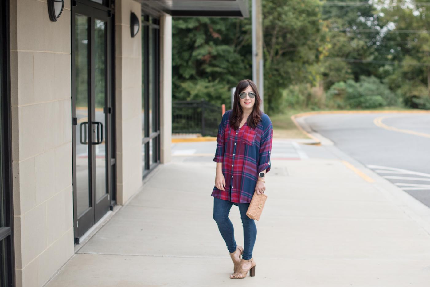 Plaid Tunic for Fall