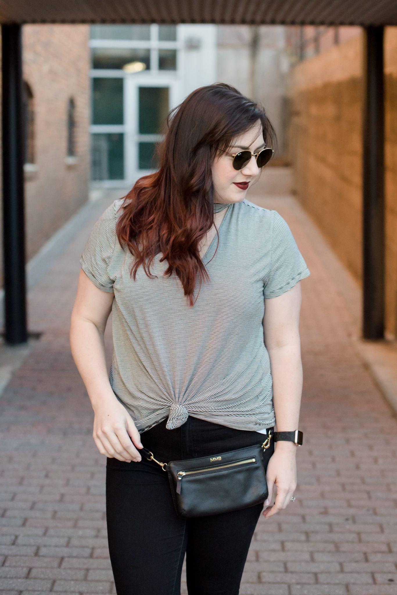Concert Style: A Choker Tee with a Belt Bag via @missmollymoon