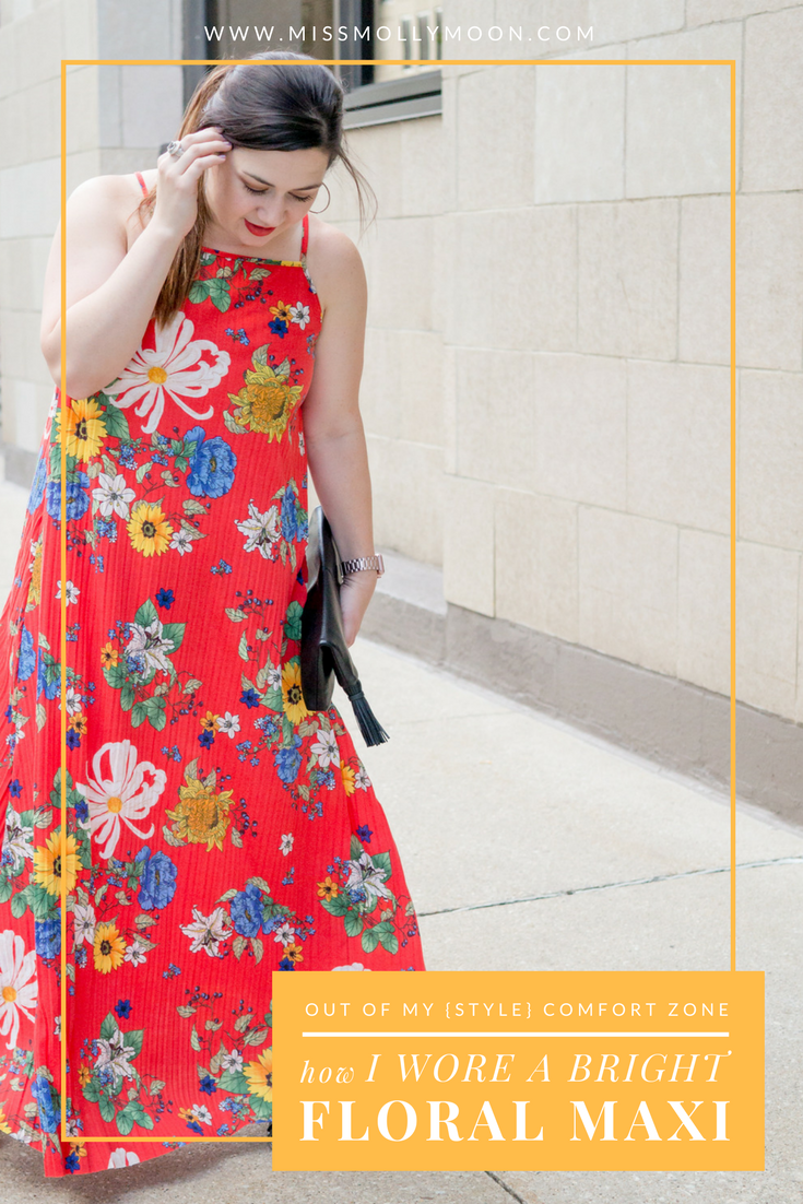 Stepping Out of My Comfort Zone in a Bright, Floral Maxi    Miss Molly Moon