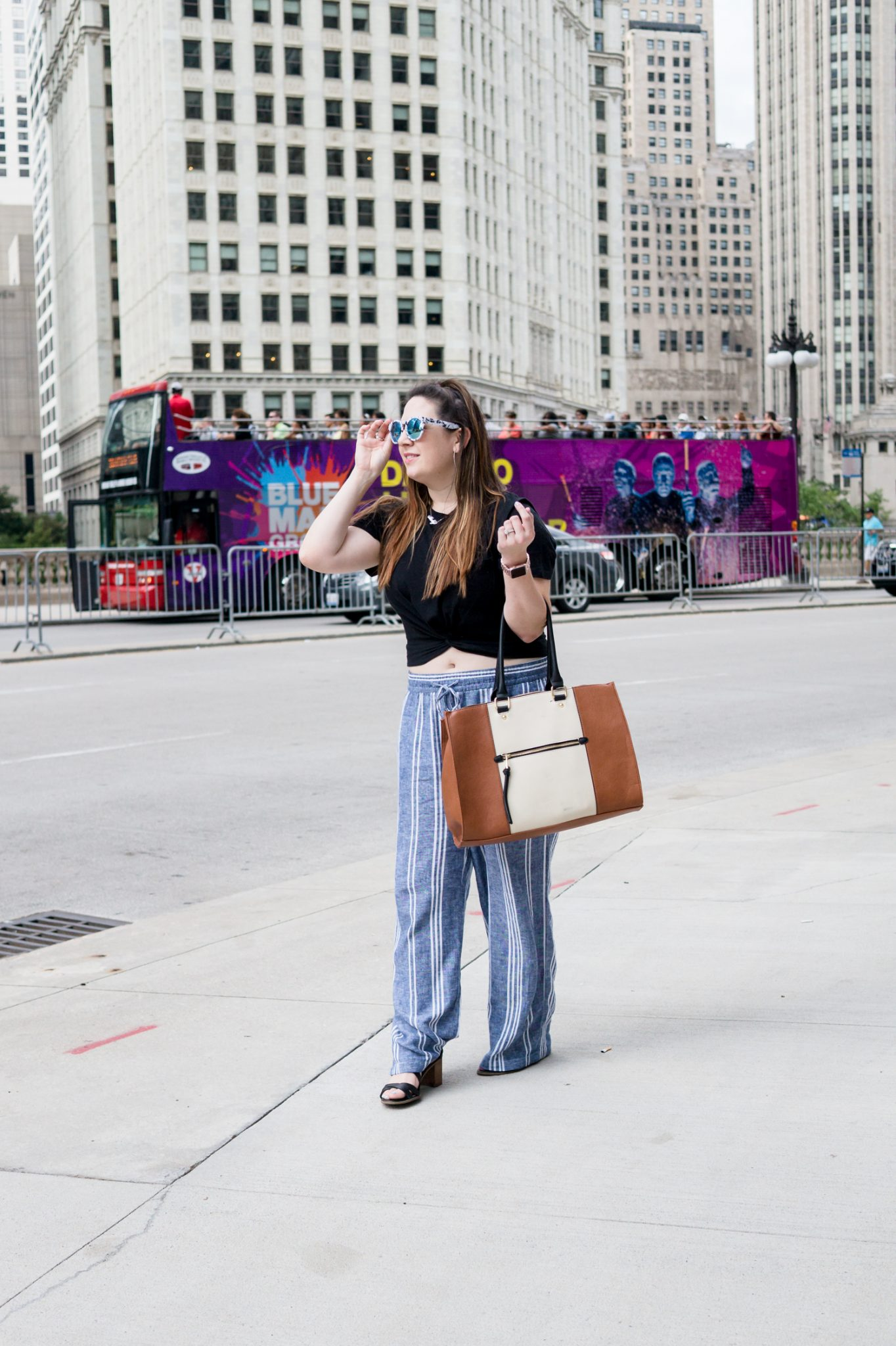 Wide Leg Pants + a Crop Tee in Chicago \\ Miss Molly Moon