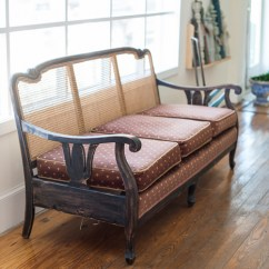 Settee Sofa Couch Comfortable Sofas Cheap Cane Back Wood Frame Pinterest ...