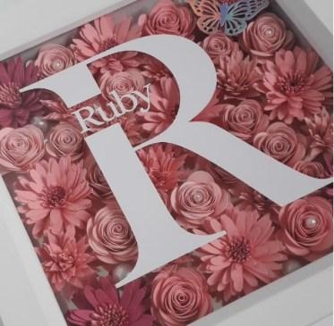 3d flower in box - luxury gift