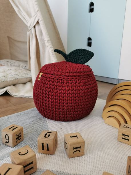 Apple crocket basket for home decor