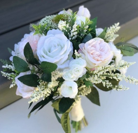 Artificial bridesmaids flowers