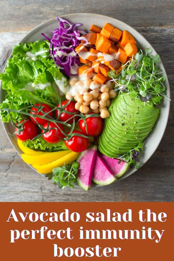 Avocado salad the perfect immunity booster