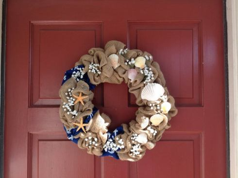 Beach theme wreath