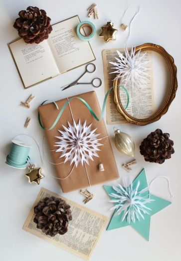 Book gift wrapping inspiration