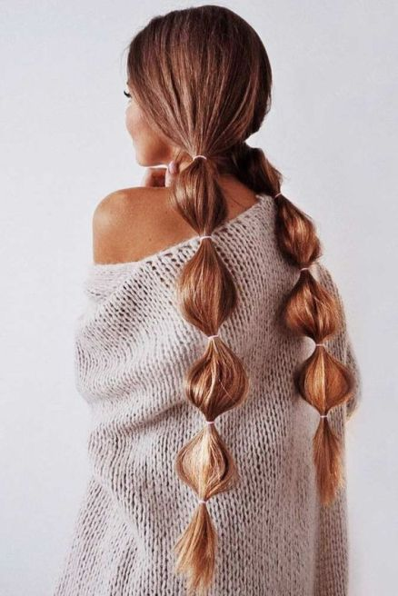 Buble braids hairstyle for Christmas eve