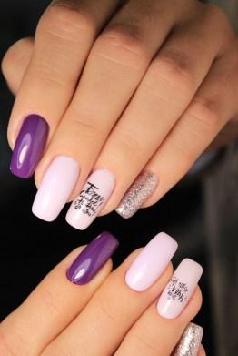 Classy medium length nails design