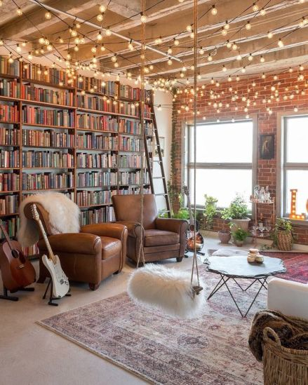 New York apartment transformed into a study room