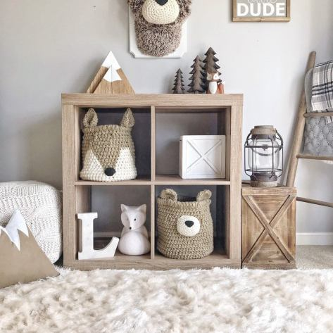 Crochet Basket Nursery Decor
