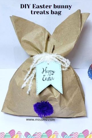 DIY Easter bunny treats bag tutorial