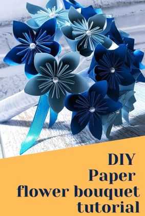 DIY  Paper  flower bouquet tutorial