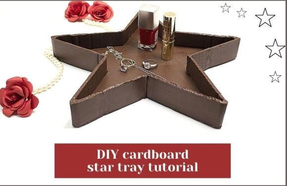 DIY cardboard star tray step by step