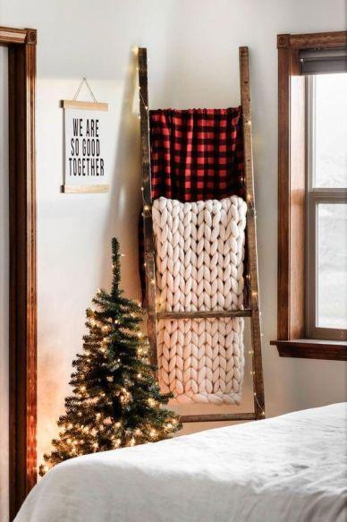 Decorative ladder for blankets. Blankets ladder
