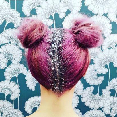 Double bun hairstyle