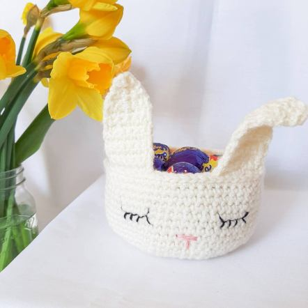 Easter bunny basket - Nursery bunny crocket basket