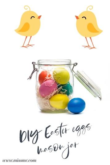 Easter eggs mason jar