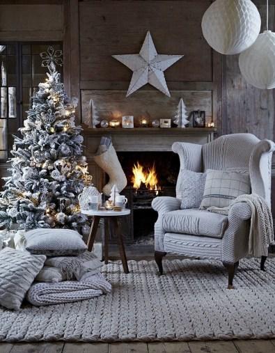 Elegant Grey Christmas tree