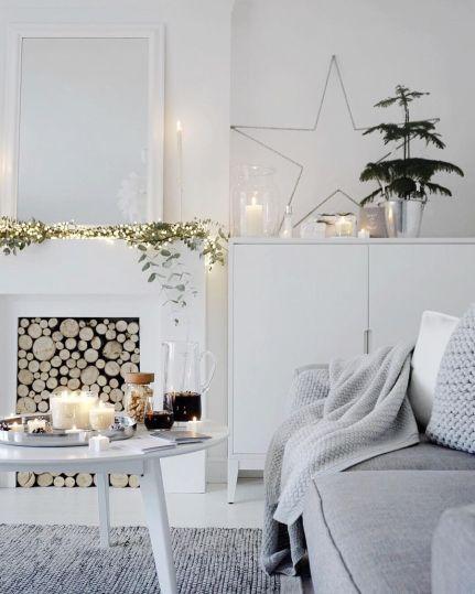Elegant minimalist Scandinavian living room decor