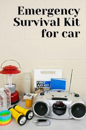 Emergency survival kit for car