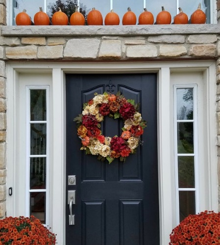 Wreaths for Fall and Thanksgiving decor
