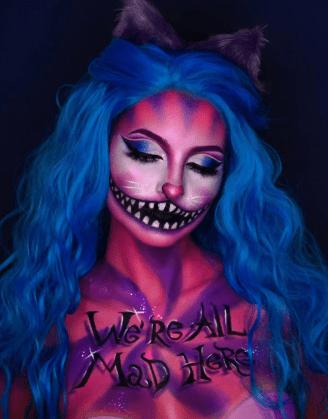 Fantasy Cat Halloween Makeup look