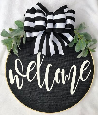 Farmhouse summer wreath for front door