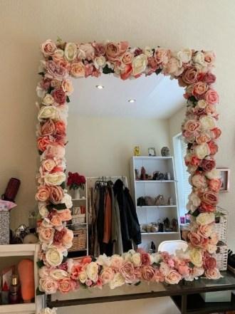 Handmade Flower Mirror