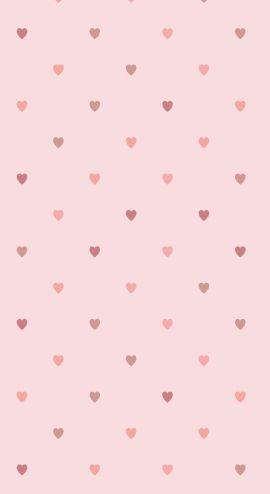 Fun love heart polka dots wallpaper