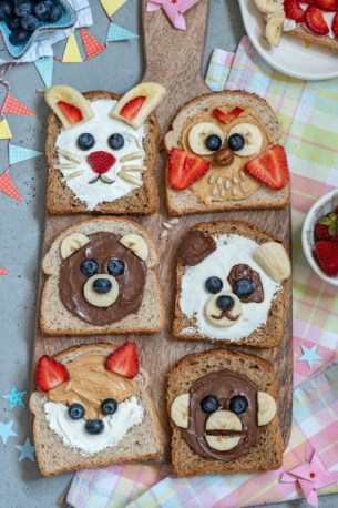 Get creative with this recipe and your kids will love eating peanut butter on breakfast