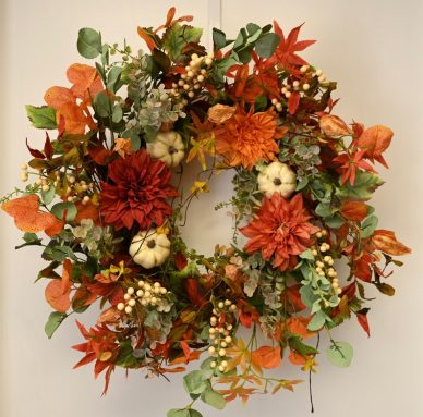 Grapevine Twig Wreath for Fall Front Door