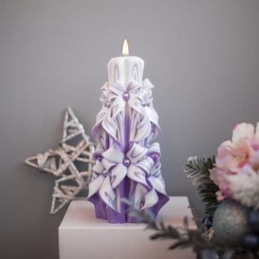 Hand carved decorative candle