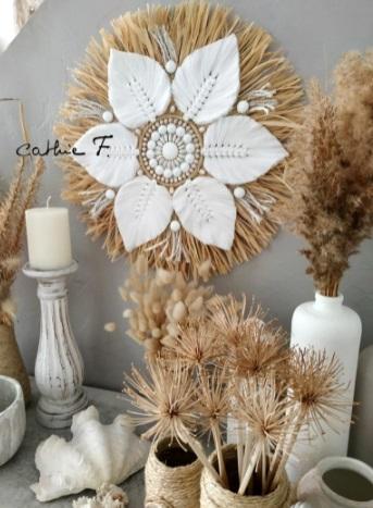 Handmade Raffia juju hat for boho decor enthusiasts