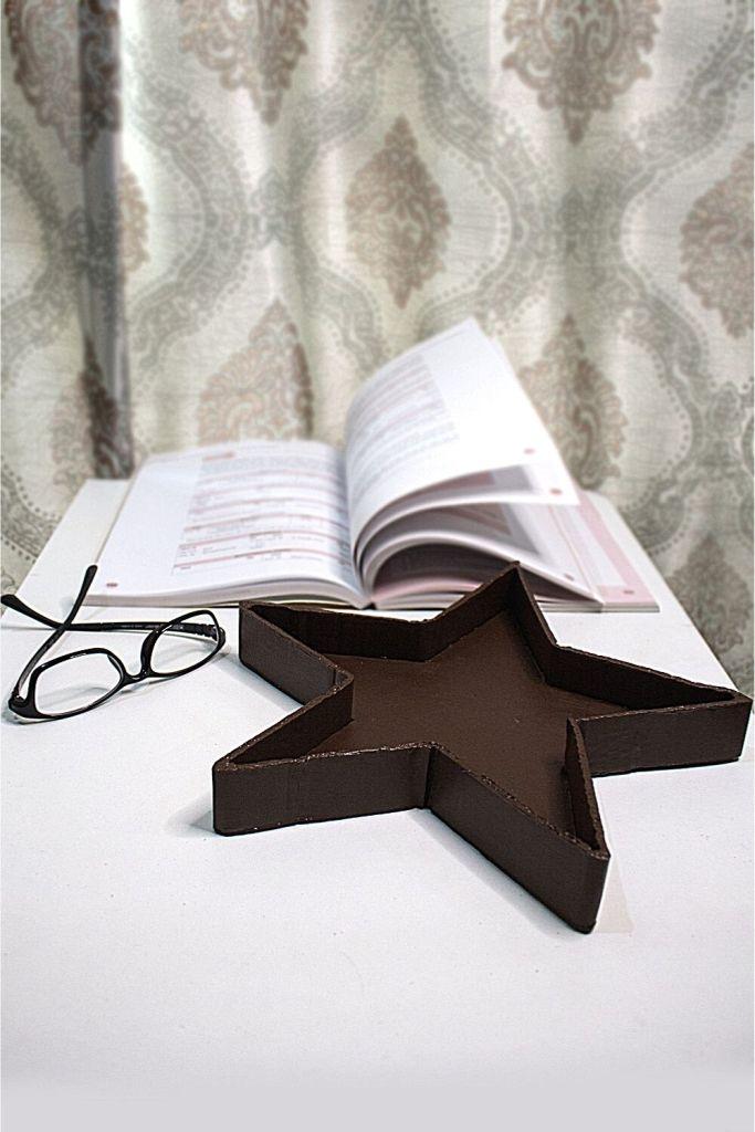 Handmade cardboard star tray