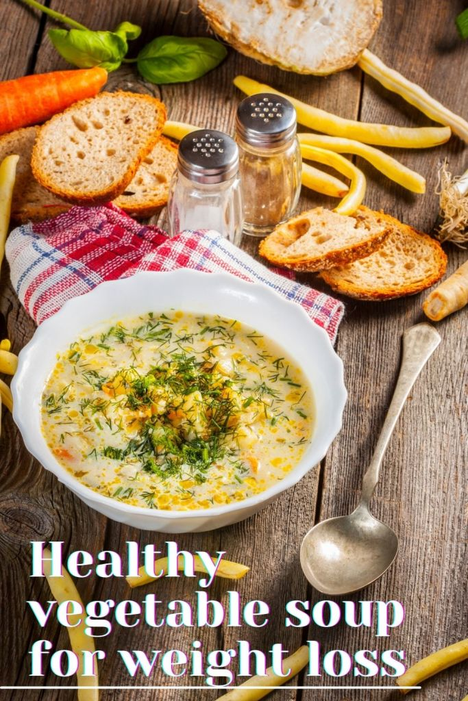 Healthy vegetable soup for weight loss