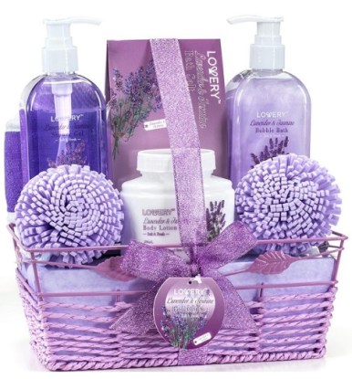 Home Spa Gift Baskets For Women - Bath and Body Gift Basket For Women and Men – Lavender and Jasmine Home Spa Set with Body Lotions, Bubble Bath, Bath Salt and Much More. Christmas gift ideas for her australia.