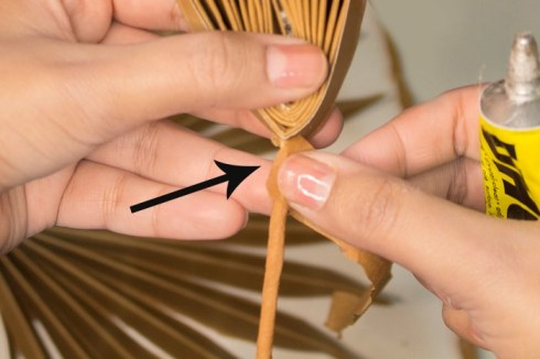 How to make paper palm leaf step by step