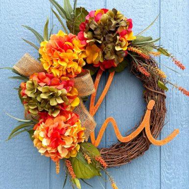 Hydrangea Fall Wreath